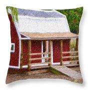 Wooden Cabin  Throw Pillow