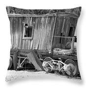 Wooden Caboose Throw Pillow