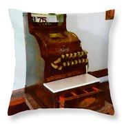 Wooden Cash Register Throw Pillow