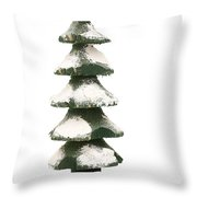 Wooden Christmas Tree With Gifts Throw Pillow