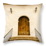 Wooden Colonial Style Door Throw Pillow
