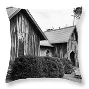 Wooden Country Church 2 Throw Pillow
