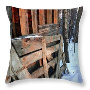 Wooden Fence Throw Pillow