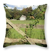 Wooden Gate Sussex Uk Throw Pillow