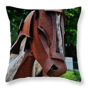 Wooden Horse12 Throw Pillow