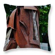 Wooden Horse13 Throw Pillow