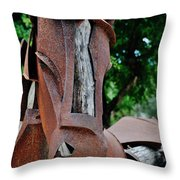 Wooden Horse15 Throw Pillow