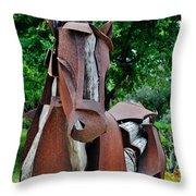 Wooden Horse16 Throw Pillow
