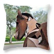 Wooden Horse26 Throw Pillow