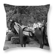 Wooden Horse6 Throw Pillow