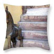 Wooden Horses 2 Throw Pillow