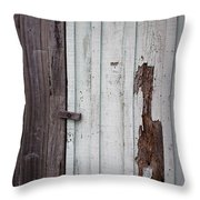 Wooden Latch Throw Pillow