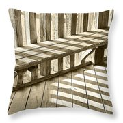 Wooden Lines - Semi Abstract Throw Pillow