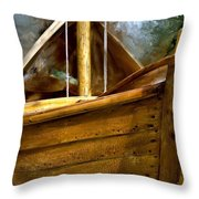 Wooden Mackinaw Boat Throw Pillow