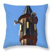Wooden Minaret Throw Pillow