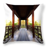 Wooden Path Throw Pillow