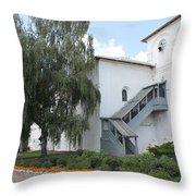 Wooden Porch Throw Pillow