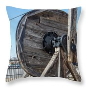 Wooden Pully Throw Pillow