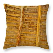 Wooden Roof Throw Pillow
