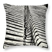 Wooden Sculpture In Palm House Kew Gardens Throw Pillow