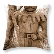 Wooden Sherwood Forest Carving Throw Pillow