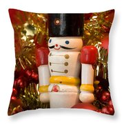 Wooden Soldier Throw Pillow