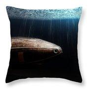 Wooden Submarine Ictineo II Dv Throw Pillow