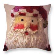 Wooden Toy Santa Throw Pillow