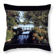Woodfoot Bridge Of Williams Bay Wi Over Geneva Lake  Throw Pillow