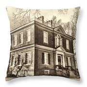 Woodford Mansion Throw Pillow by Olivier Le Queinec