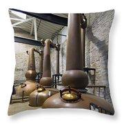 Woodford Reserve Copper Spirit Stills - D008775a Throw Pillow