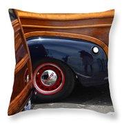 Woodies Throw Pillow