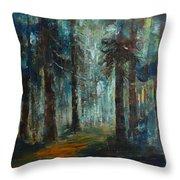 Woodland At Wilsonia 02 Throw Pillow