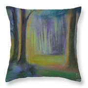 Woodland At Wilsonia Throw Pillow