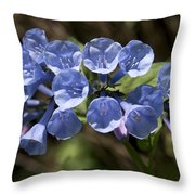 Woodland Blue Throw Pillow