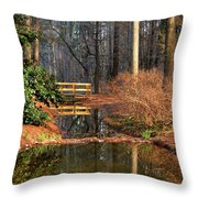 Woodland Bridge 2014 Throw Pillow