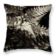 Woodland Fern Throw Pillow