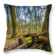 Woodland Fungi Throw Pillow