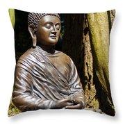 Woodland Meditation Throw Pillow
