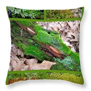 Woodland Mosses Throw Pillow