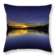 Woodland Park Sunset Throw Pillow