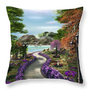 Woodland Path Throw Pillow