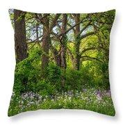 Woodland Phlox 2 Throw Pillow