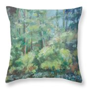 Woodland Pond Throw Pillow