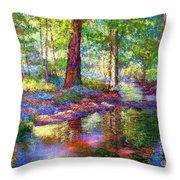 Woodland Rapture Throw Pillow
