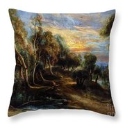 Woodland Scenery Throw Pillow
