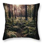 Woodland Trees Throw Pillow