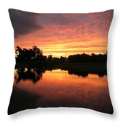 Woodlands Sunset Throw Pillow