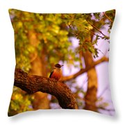 Woodpeckers Of Fort Simcoe Throw Pillow