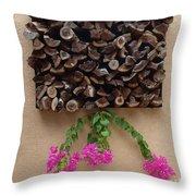 Woodpile Plus Throw Pillow